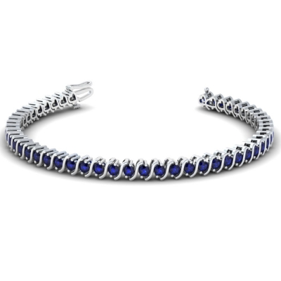 sapphire sterling extender item women gorgeous gemstoneking created stunning ct bracelet silver bangles for with
