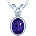 Oval Cut Blue Sapphire Solitaire Pendant (7.85cts)