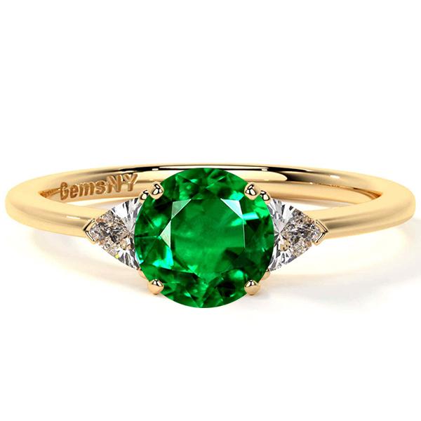 Three Stone Ring Setting With Trillion Cut Diamonds (0.24cttw)