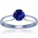 Round Shape Blue Sapphire Solitaire Ring (0.71cts)