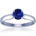 Round Shape Blue Sapphire Solitaire Ring (0.70cts)