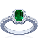 Emerald Prong Set Ring With Round Diamonds (4.73cttw)