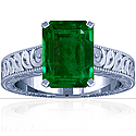 Emerald Prong Set Solitaire Ring (2.69cttw)