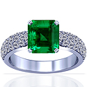 Emerald Prong Set Ring With Round Diamonds (4.86cttw)