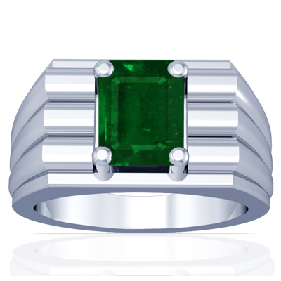 astrological s emerald prong set ring 1 44cts