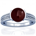 Rare Untreated Cabochon Ruby Solitaire Ring (3.81cts)