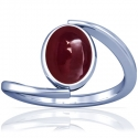 Rare Untreated Cabochon Ruby Solitaire Ring (6.67cts)