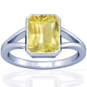 Astrological Women's Rare Untreated Yellow Sapphire Bezel Set Ring (0.93cts)