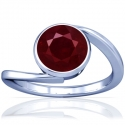 Round Shape Ruby Solitaire Ring (0.80cts)