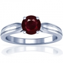 Round Shape Ruby Solitaire Ring (1.16cts)