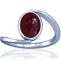 Rare Untreated Cabochon Ruby Solitaire Ring (3.72cts)