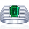 Emerald Prong Set Mens Ring (2.32cts)
