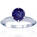Round Shape Blue Sapphire Solitaire Ring (1.85cts)