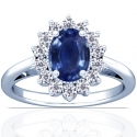 Sapphire Oval Princess Diana Ring (1.45cttw)
