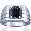 Emerald Cut Alexandrite Prong Set Mens Ring (0.86cts)