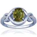 Cushion Alexandrite Prong Set Ring With Round Diamonds (0.72cttw)