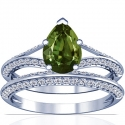 Pear Shape Alexandrite Matching Set With Round Diamonds (2.06cttw)