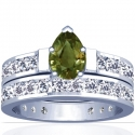Pear Shape Alexandrite Matching Set With Round Diamonds (3.49cttw)