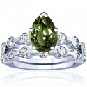 Pear Shape Alexandrite Matching Set With Round Diamonds (2.31cttw)
