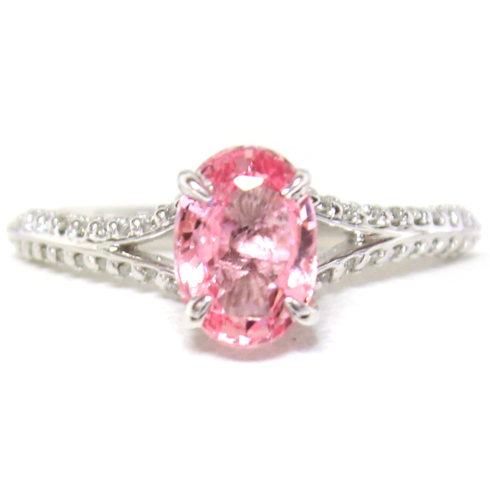Ruby And Prong Set Round Diamonds Ring Setting